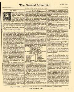 General Advertiser, July 17, 1746, Page 1