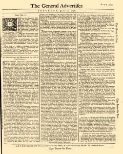 General Advertiser, July 19, 1746, Page 1
