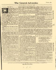 General Advertiser, July 22, 1746, Page 1