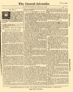 General Advertiser, July 23, 1746, Page 1
