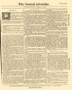 General Advertiser, July 24, 1746, Page 1