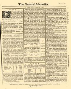 General Advertiser, July 25, 1746, Page 1