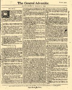 General Advertiser, August 02, 1746, Page 1