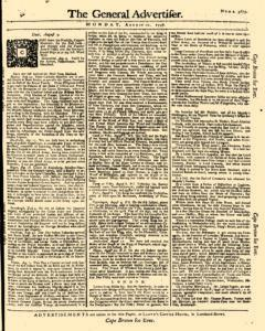 General Advertiser, August 11, 1746, Page 1