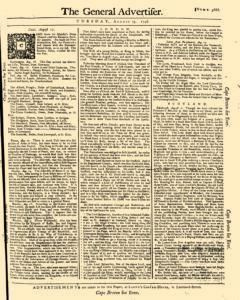 General Advertiser, August 19, 1746, Page 1