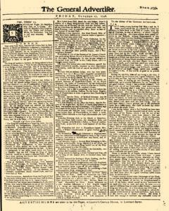 General Advertiser, October 17, 1746, Page 1