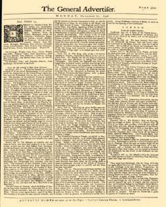General Advertiser, October 27, 1746, Page 1