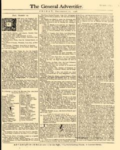 General Advertiser, December 12, 1746, Page 1