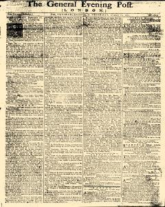General Evening Post, January 15, 1771, Page 1