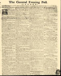 General Evening Post, February 19, 1771, Page 1