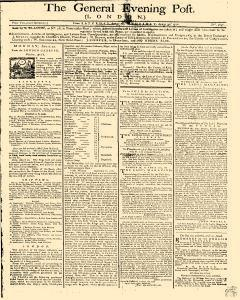 General Evening Post, April 27, 1771, Page 1