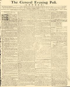 General Evening Post, July 11, 1771, Page 1