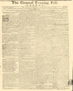 General Evening Post, August 27, 1771, Page 1