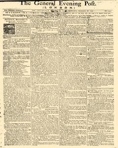 General Evening Post, September 26, 1771, Page 1