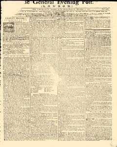 General Evening Post, October 31, 1771, Page 1