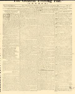 General Evening Post, November 07, 1771, Page 1