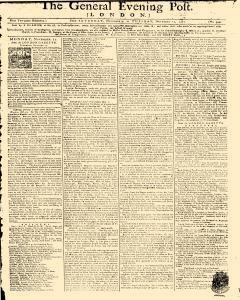 General Evening Post, November 09, 1771, Page 1