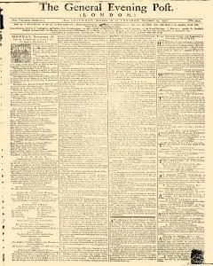 General Evening Post, November 16, 1771, Page 1