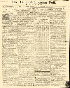General Evening Post, November 21, 1771, Page 1