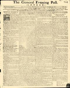 General Evening Post, December 28, 1771, Page 1