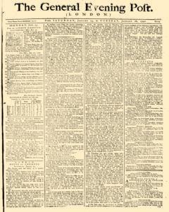 General Evening Post, January 23, 1790, Page 1