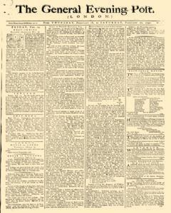 General Evening Post, February 18, 1790, Page 1