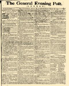 General Evening Post, March 16, 1790, Page 1