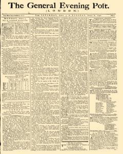 General Evening Post newspaper archives