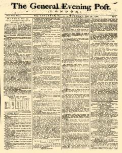 General Evening Post, November 27, 1790, Page 1