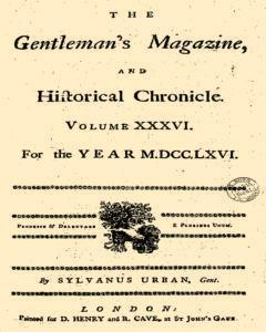 Gentlemans Magazine And Historical Chronicle newspaper archives