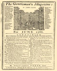 Gentlemans Magazine And Historical Chronicle, June 01, 1766, Page 1