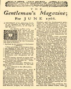 Gentlemans Magazine and Historical Chronicle, June 01, 1766, p. 3
