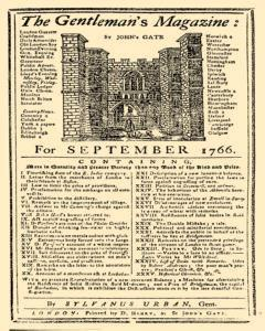 Gentlemans Magazine And Historical Chronicle, September 01, 1766, Page 1