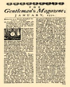 Gentlemans Magazine and Historical Chronicle, January 01, 1771, p. 7