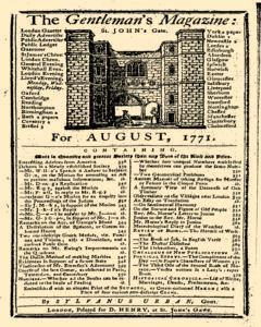Gentlemans Magazine And Historical Chronicle, August 01, 1771, Page 1