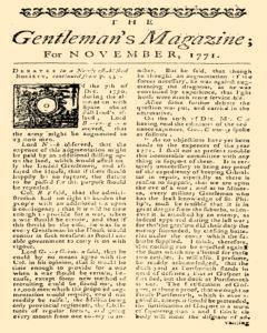Gentlemans Magazine and Historical Chronicle, November 01, 1771, Page 3