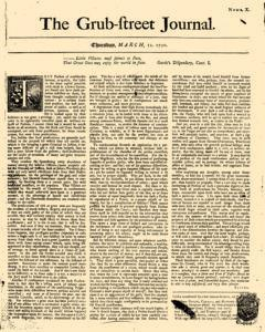 Grub Street Journal, March 12, 1730, Page 1