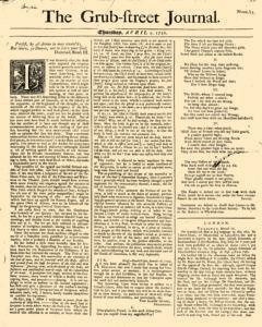 Grub Street Journal, April 02, 1730, Page 1