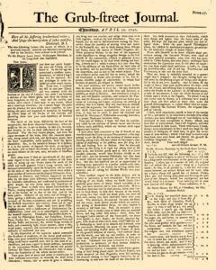 Grub Street Journal, April 30, 1730, Page 1