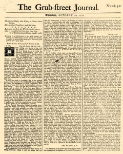Grub Street Journal, October 22, 1730, Page 1