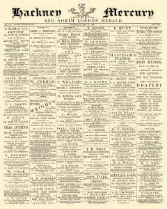 Hackney Mercury And North London Herald, May 15, 1886, Page 1