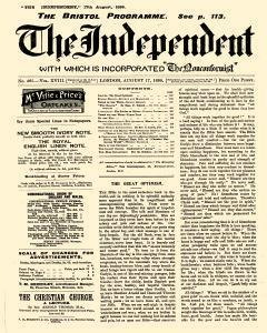 Independent London Middlesex, August 17, 1899, Page 1
