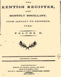Kentish Register And Monthly Miscellany