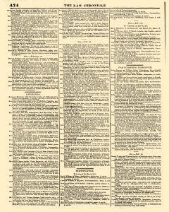 Law Chronicle and Estate Advertizer