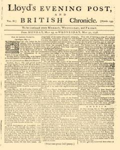 Lloyds Evening Post and British Chronicle