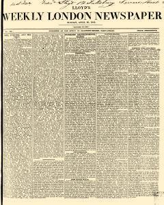 Lloyds Weekly London Newspaper, April 20, 1845, Page 1