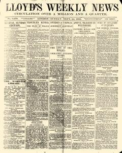 Lloyds Weekly News, September 24, 1905, Page 1