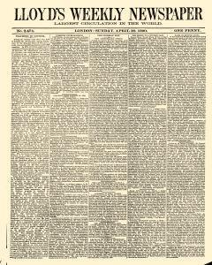 Lloyds Weekly Newspaper, April 20, 1890, Page 1