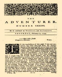 London Adventurer, February 23, 1754, Page 1