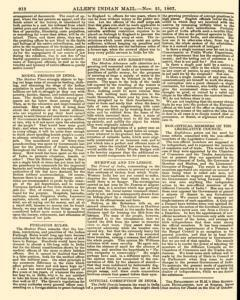 London Allen Indian Mail and Official Gazette